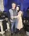Photo d'un technicien et de l'actrice Emilia Jones partagée le 15 décembre 2016 dernier jour de tournage du film Incident in a Ghost Land pour l'actrice