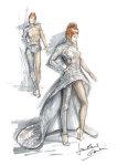 Mylène Farmer Timeless 2013 Dessin costume Jean-Paul Gaultier