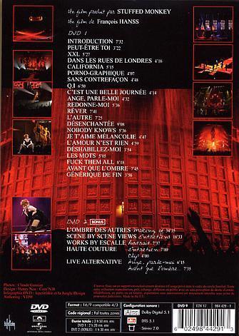 Avant que l'ombre...à Bercy DVD Edition Limitée  verso