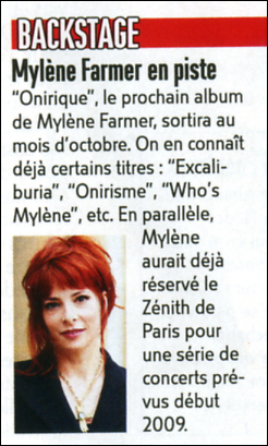Mylène Farmer Article VSD