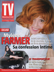 Mylène Farmer TV Magazine 23 novembre 2012