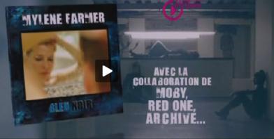 Mylène Farmer Pub album Bleu Noir