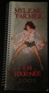 Mylène Farmer Tour 2009 Road Book Tournée Stades