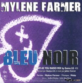 Mylène Farmer Bleu Noir CD Promo Remix