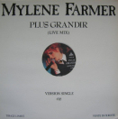 Single Plus Grandir Live (1990) - Maxi 45 Tours Promo