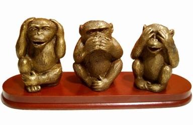 Les 3 singes sagesse