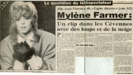 Mylène Farmer France Soir 03 avril 1987
