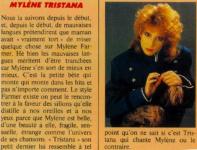 Mylène Farmer Pilote Avril 1987