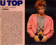 Mylène Farmer Top 50 Février 1987