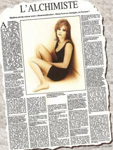 Mylène Farmer Presse Le Soir 25 octobre 1995