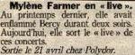 Mylène Farmermylene.netPresse 1997 Aujourd'hui en France 01/04/1997