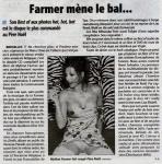 Mylène Farmer Presse La dernière heure 04 décembre 2001