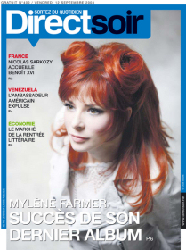 Mylène Farmer Presse Direct Soir 12 septembre 2008