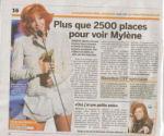 Mylène Farmer Presse 20 minutes Suisse 28 août 2009