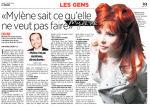 Mylène Farmer Presse 24 heures 31 août 2009