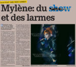 Mylène Farmer Presse La Meuse 21 septembre 2009