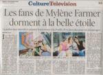 Mylène Farmer Presse La Tribune de Genève 01 septembre 2009