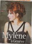 Mylène Farmer Presse Le Matin Dimanche Suisse 30 août 2009