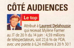 Mylène Farmer Tour 2009 Presse Tele 7 Jours 22 juin 2009