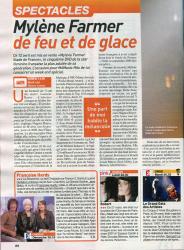 Mylène Farmer Presse Télé Cable Sat Hebdo programmes du 10 au 16 avril 2010