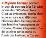 Mylène Farmer Femme Actuelle 03 janvier 2011