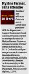 Mylène Farmer Presse France Soir 07 novembre 2011