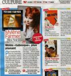 Mylène Farmer Télé Star 03 janvier 2011
