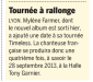 Mylène Farmer Presse 20 Minutes Suisse 04 décembre 2012