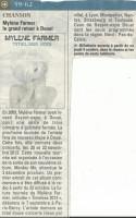 Mylène Farmer Presse La Voix du Nord 28 septembre 2012