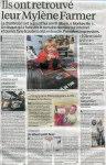 Mylène Farmer Presse Le Parisien 03 décembre 2012