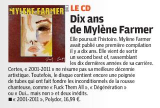 Mylène Farmer Presse Le Parisien 08 janvier 2012