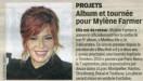 Mylène Farmer Presse Le Parisien 28 septembre 2012