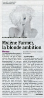 Mylène Farmer Presse Metro 28 septembre 2012
