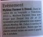 Mylène Farmer Presse Metro Lille 28 septembre 2012