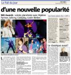 Mylène Farmer Presse Nice Matin 28 janvier 2012