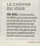 Mylène Farmer Presse Sud Ouest 06 octobre 2012