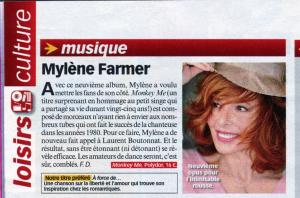 Mylène Farmer Presse Télé Loisirs 10 décembre 2012