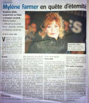 Mylène Farmer Presse L'Avenir 16 septembre 2013