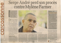 Mylène Farmer Presse La Dépêche du Midi 26 septembre 2013