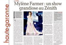 Mylène Farmer Presse La Dépêche du Midi 26 novembre 2013