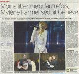 Mylène Farmer Presse La Tribune de Genève 21 octobre 2013
