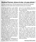 Mylène Farmer Presse Ouest France 09 octobre 2013