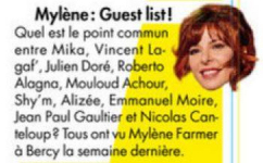 Mylène Farmer Presse Voici 20 septembre 2013